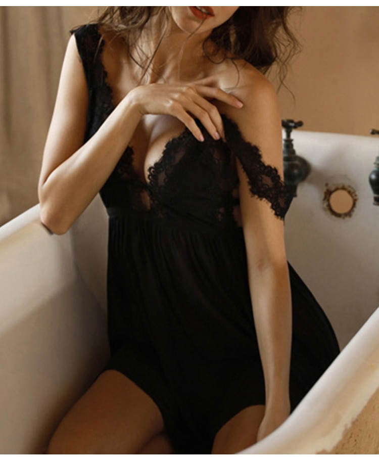 Women's Sexy V-Neck Nightgowns